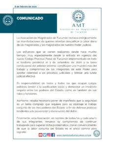 1er comunicado AMT 2021